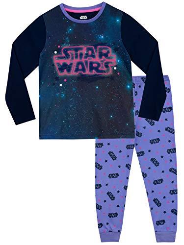Star Wars Mädchen Schlafanzug Violett 146