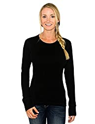Woolx Women's Hannah Midweight Merino Wool Base Layer Shirt