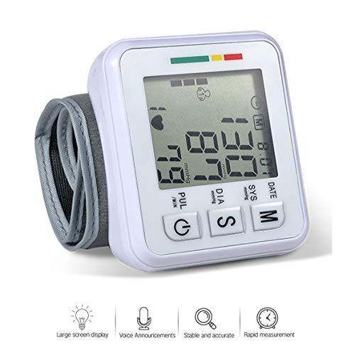 AFANG Elektronisches LCD-Blutdruckmessgerät, Digitales Blutdruckmessgerät Mit Lauter Stimme, Einstellbare Große Manschette 2 Benutzer 198 Speicher Pulsfrequenz-Messgerät