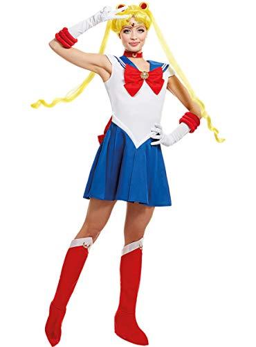 Funidelia   Déguisement Sailor Moon 100% Officielle pour Femme Taille L ▶ Anime, Cosplay, Usagi Tsukino, Dessins Animés - Couleur: Bleu, Accessoire pour déguisement