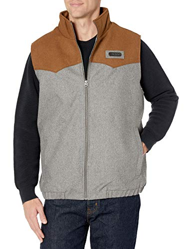 Cinch Men's Color Blocked Poly-Wool Concealed Carry Vest, Gray, XXL