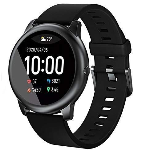 Haylou solar 3 Smartwatch,Fitness Armbanduhr mit Pulsuhr Fitness Tracker IP68 Wasserdicht Sportuhr,Smart Watch mit Schrittzähler,Schlafmonitor,Stoppuhr für Damen Herren und Kinder (Englische Version)