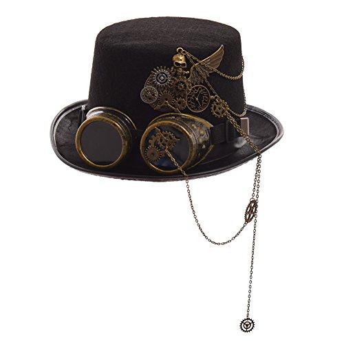 GRACEART Steampunk hacia parte superior sombreros con google (varios...