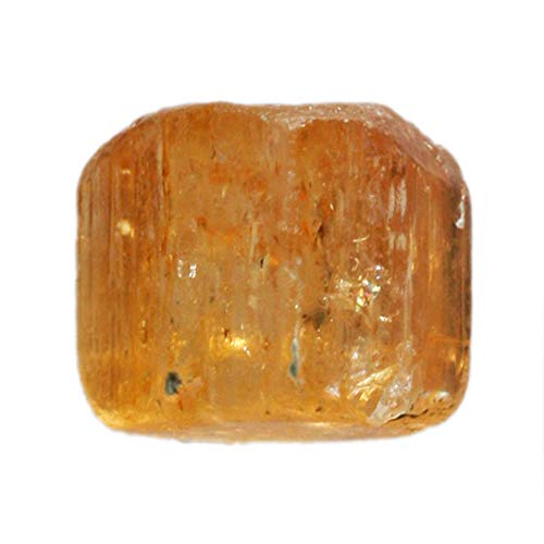 Increíble piedra preciosa natural de topacio naranja imperial áspera, tamaño 8 x 8 x 6,5 mm, joyería, topacio brasileño, manualidades, AG-12950