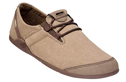Xero Shoes Casual Canvas Barefoot-Inspired Shoe - Men's Hana,Brown/Black,6.5 D(M) US