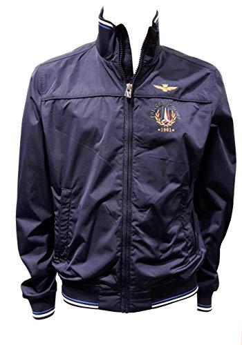 Aeronáutica militar AB1718 azul marino para hombre, chaqueta, chaqueta
