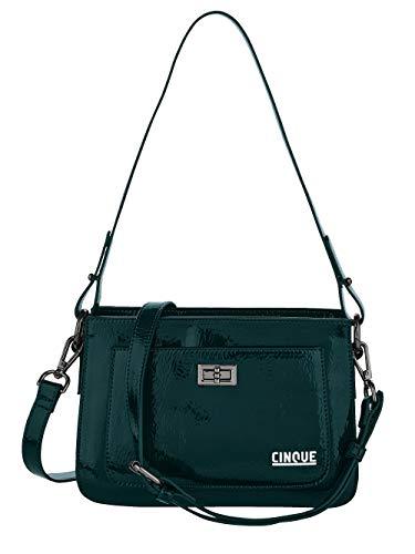 CINQUE Handtasche aus hochwertigem Lack-Softmaterial petrol