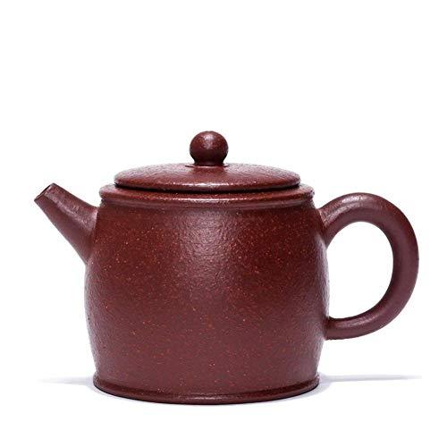Teiera stile giapponese, Tè Maker Pot Coppa di Tè grossolana Viola Argilla Teiera Famosa Teiera Fatta a mano Teiera Bollitore Brachetta da tamburo Circolo Colore: sabbia grossolana, Dimensione: taglia