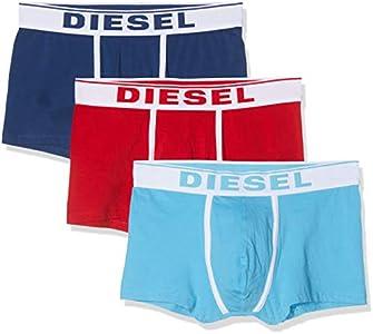 Diesel UMBX-DAMIENTHREEPACK, Calzoncillo para Hombre, Multicolor (Chinese Red/Estate Blue/Sky E4123/0jkkc), L, Pack de 3