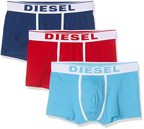 Diesel Herren Unterhose UMBX-DAMIENTHREEPACK (3er Pack), Mehrfarbig (Chinese Red/Estate Blue/Sky E4123-0Jkkc), L