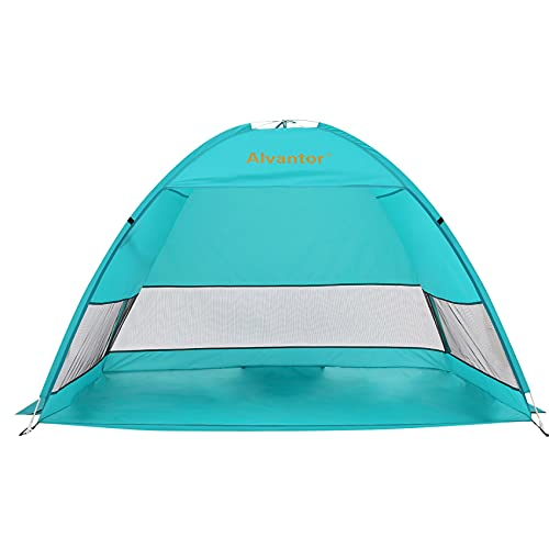 Alvantor Beach Tent Coolhut Plus Beach Umbrella Outdoor Sun Shelter Cabana Automatic Instant Pop-Up UPF 50+ Sun Shade Portable Camping Fishing Hiking Canopy Easy Set Up Light Weight Windproof