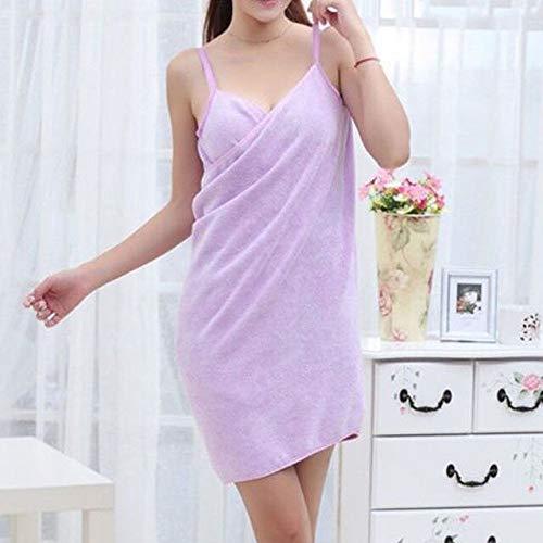Heliansheng Toalla de baño mágica de Secado rápido para niñas, Albornoz de Playa para Mujer, Vestido de 5 Colores, púrpura