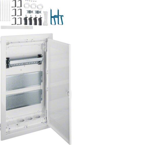 Hager VH36NW Kommunikationsverteiler 3-reihig Hohlwand IP30