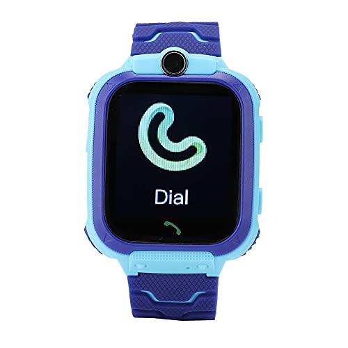 Reloj De Pulsera Digital, Smartwatch Resistente Al Agua con Pantalla Táctil De 3 A 12 Años para Regalo De Niños(Azul)