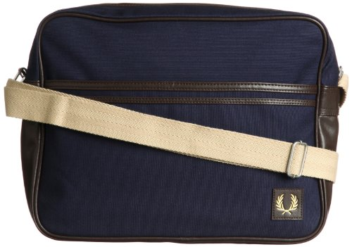 Fred Perry Classic Canvas Shoulder Bag navy/brown