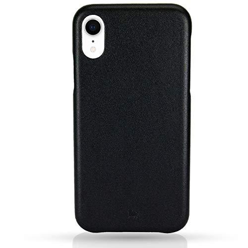 BULLAZO Menor Classic, Edle Hülle aus Leder, Kompatibel mit iPhone XR 10R, Schwarz