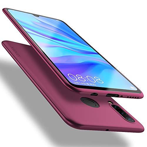 X-level für Huawei P30 Lite Hülle, [Guardian Serie] Soft Flex TPU Hülle Superdünn Handyhülle Silikon Bumper Cover Schutz Tasche Schale Schutzhülle Kompatibel mit Huawei P30 Lite New Edition - Weinrot