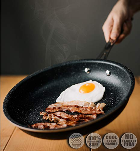 GRANITESTONE 2687 11' Frying Pan with 5.5' Egg Pan, Non-stick, No-warp, Mineral-enforced, PFOA-Free, Dishwasher-safe As Seen On TV