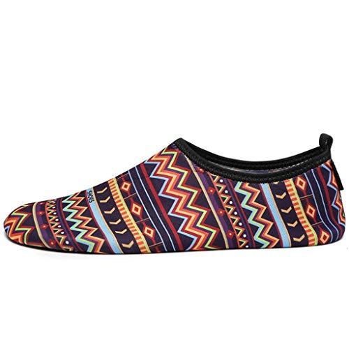 GDSSX Zapatos de Agua Descalzos de Secado rápido de un Paso Calcetines de Yoga de un Solo Paso Calzado Deportivo de Playa Natación surfeando Hombres/Mujeres/niños/niños/niñas Secado Rápido