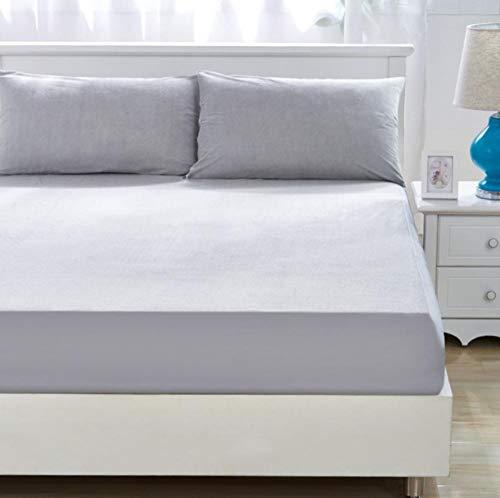 XLMHZP Protector de colchón acolchado extra profundo, terciopelo de cristal grueso acolchado funda de colchón cálida suave de felpa Queen King, sábana bajera de 135 cm x 200 cm + 30 cm