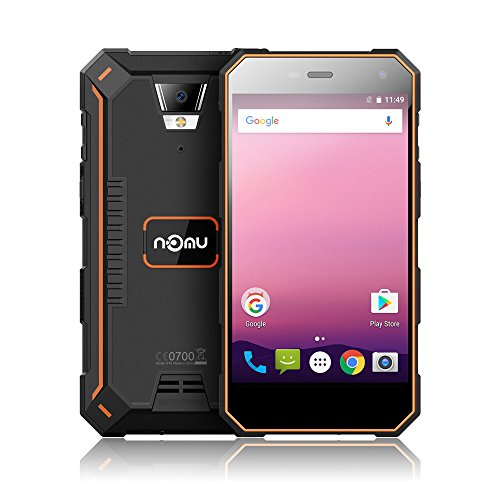 NOMU S10 Pro IP68 + 4G Smartphone FDD-LTE 3G WCDMA Android 7.0 5.0 Pouces MTK6737T Quad Core 3GB RAM + Caméra ROM 32GB 5MP + 8MP Batterie externe 5000mAh