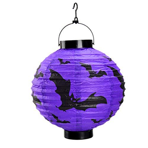PerGrate LED Papier Kürbis Spinne Bat Hängende Laterne Licht Lampe Halloween Party Decor Supplies