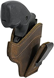 Barsony New Brown Leather Tuckable IWB Holster for Snub Nose 2