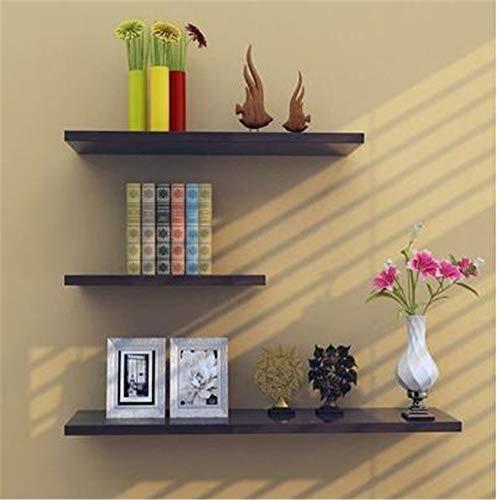 Rishx-lamp 3 Wandborde, Holz und Draht auf schwimmenden Platten für Wohnzimmer, Schlafzimmer, Arbeitszimmer oder Küche,Black