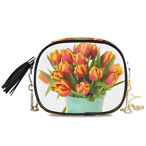 Winkelen Mooie Boeket van Tulpen In Vaas Portemonnee Kaarthouder portemonnee Coin Case Telefoontas Grote Capaciteit
