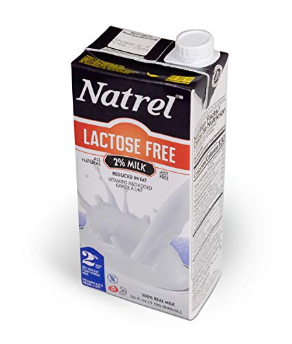 Natrel | 2% Lactose-Free Milk | 32 Ounce | Pack of 6 | Shelf Stable Milk | Gluten-Free | Kosher | Non-GMO | No Refrigeration Needed | Fresh Taste that Lasts for Months | Made in the U.S.A