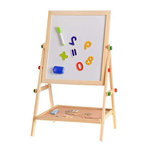 JTKDL Pintura Junta de Madera de Dos en uno de múltiples Funciones del Tablero de Dibujo de Soporte Tipo de Doble Cara del Tablero de Escritura del Regalo del niño magnética Pizarra Pizarra