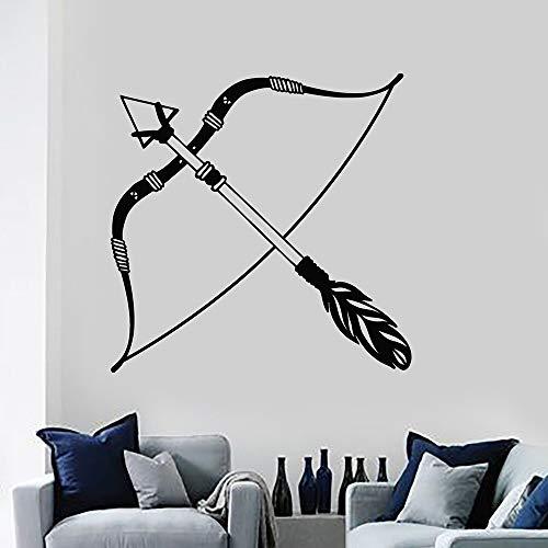JXMN Arco y Flecha de Dibujos Animados Pegatinas de Pared de Vinilo decoración del hogar Pegatinas decoración del hogar Sala de Estar Dormitorio Pared Arte Mural 56x56cm