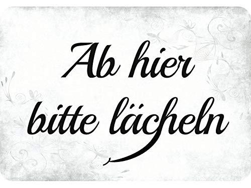 Blechwaren Fabrik Braunschweig Kulthänger Ab Hier Bitte lächeln KH022