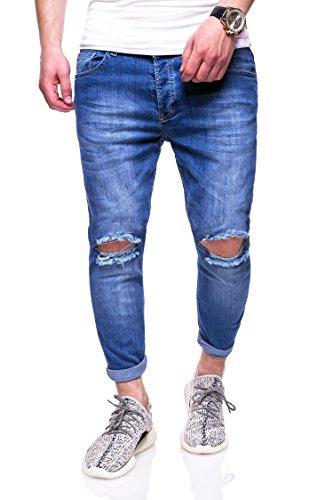 MT Styles Destroyed Jeans Hose RJ-3215 [Blau, W34/L32]