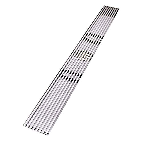 Quality Stainless Steel Shower Drain Floor Drain Bathroom Floor Linear Invisible Rectangular Mounting Intermediate Side Drainage Suitable for Bathroom Wet Room Bar Hotel Commerce,A600X68MM