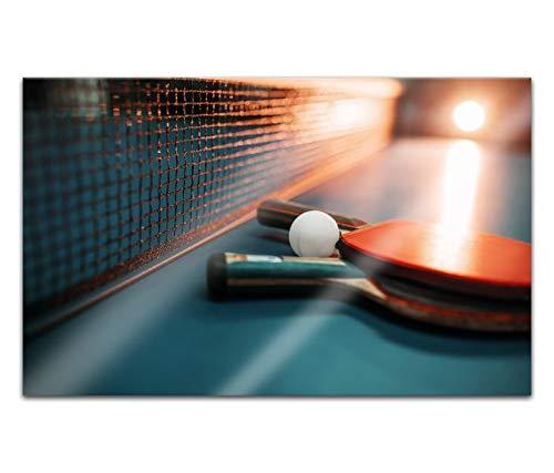 Acrylglasbilder 80x50cm Tischtennis Ball Sport Schläger Tisch Acryl Bilder Acrylbild Acrylglas Wand Bild 14H2263
