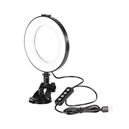 Dehongwang Iluminación de videoconferencia, anillo de selfie con soporte de abrazadera para videoconferencia, videoconferencia, trabajo remoto, zoom de llamadas, autodifusión y transmisión en vivo