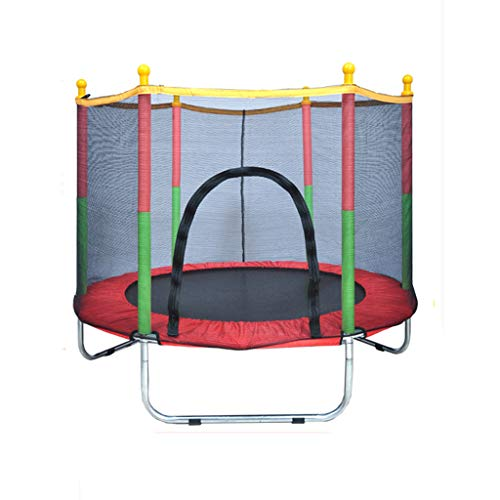 HYM Round Trampoline-Children's Trampoline Parent-child Interactive Game, With Safety Net Indoor And Outdoor Entertainment Activities(Color:red)