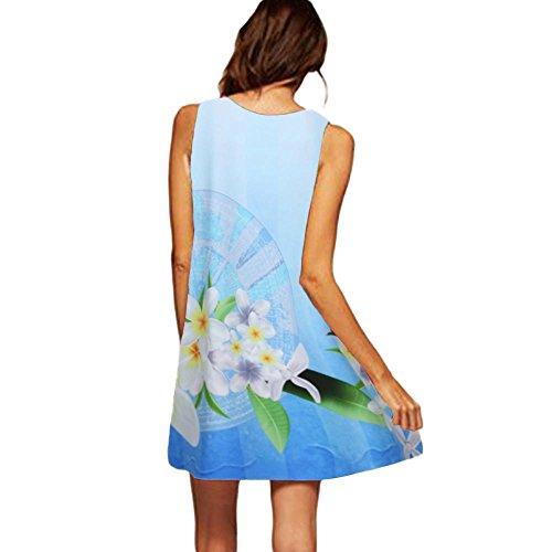 MRULIC Freizeitkleider Damen Mini A-Linie Kleider Elegant Partykleider Chinesisches Klassisches...