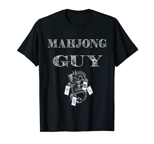 Mahjong Guy Ma Jiang Chinese Game Mah Jongg Set Tiles Card T-Shirt