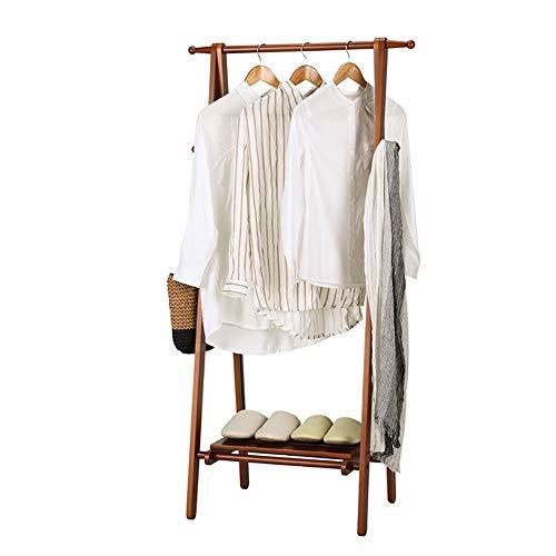 JIAJBG Hogar Perchero de madera maciza dormitorio plegable rack creativo sala simple vestíbulo percha ropa rack hogar