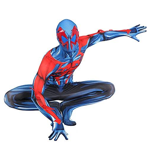 MODRYER 2099 Spiderman Cosplay Jumpsuit Niños Adultos Disfraces Disfraces de Halloween Leotard Niños Rendimiento Título Superhéroe Body,Blue-Woman/2XL 170~175cm