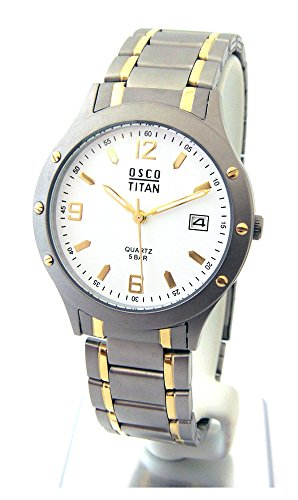 OSCO Germany Herren Uhr Analog mit Titan Armband 4870005