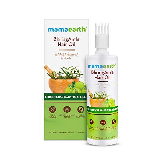 Mamaearth BhringAmla Hair Oil with Bhringraj & Amla for Intense Hair Treatment – 250ml