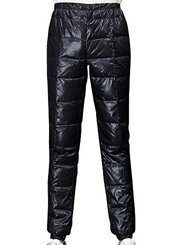 (ネルロッソ) NERLosso ダウン パンツ 防寒 暖パン 暖かい ナイロンパンツ メンズ アウトドア バイク 登山 ゴルフ スウェット 大きいサイズ カジュアル 正規品 M ブラック cmi24304-M-bl