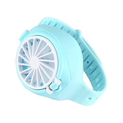 XYIANG Ventilator USB-Uhr-Lade DREI-Gang-Einstellung Minihandventilator Kind Schüler Faul Fans, Geeignet Für Eine Vielzahl Von Gelegenheiten,Blau