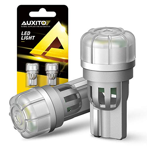 AUXITO 194 LED Bulbs, 6000K Cool White, 168 T10 2825 LED Interior Car Light Bulbs for License Plate Map Dome Door Parking Side Marker Lights, Pack of 2