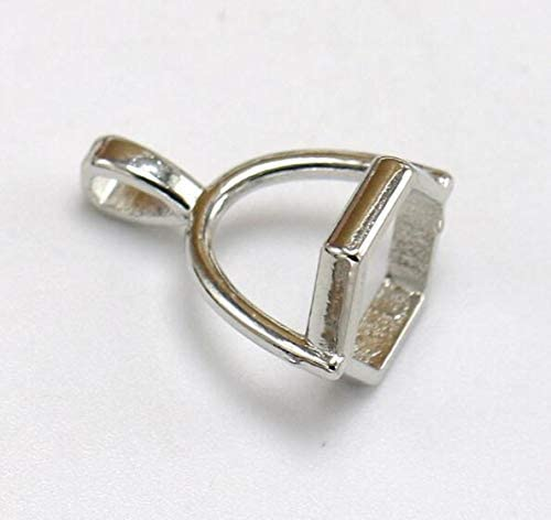 Laliva Accessories 20pcs lot 10mm Hole Natural Stone Crystal Pillar Pendants Clasp Caps Tassel product image