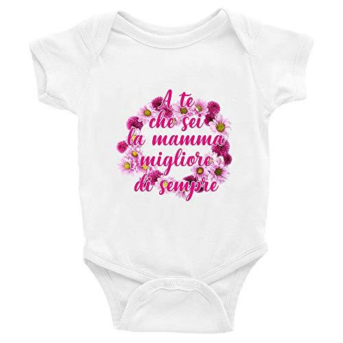 Puzzletee Body para el Día de la Madre – A Te che eres la madre mejor de siempre – Body para bebé Día de la Madre – Body de bebé – Idea de regalo blanco 0-6 Meses
