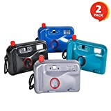 ArtCreativity Squirt Camera Set - Pack of 2 - Squeeze and Splash Summer Beach Toy - Watery Jokes and Pranks - Colors May Vary